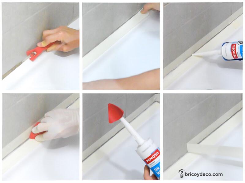 renovar la silicona de la ducha de forma fácil