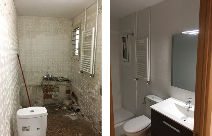 Antes y Después Reforma Integral Baño